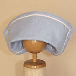 画像3: 盛夏服と共布の帽子(水色)