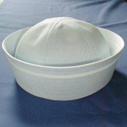画像1: 盛夏服と共布の帽子(水色)