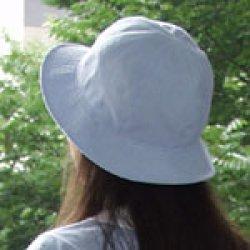 画像2: 盛夏服と共布の帽子(水色)