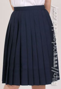 画像1: スクール紺プリーツスカート