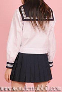 画像2: 夏用セーラー服上下セット(長袖)