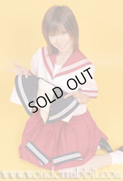 画像2: カラフル衿袖セーラー服・半袖上下セット