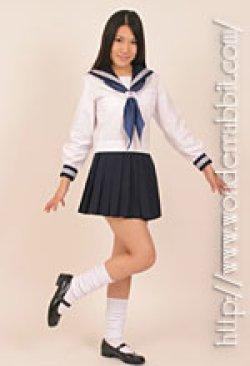 画像3: 夏用セーラー服上下セット(長袖)