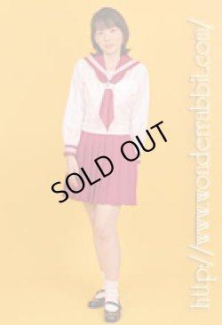 画像2: カラフル衿袖セーラー服・長袖上下セット