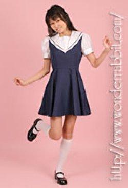 画像1: セーラーブラウス+ジャンパースカート