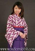 昔の女学生セットA(着物+袴+半幅帯)