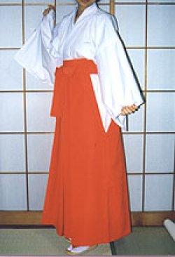 画像2: 巫女衣装(竹)2点セット