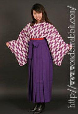 画像4: 昔の女学生セットA(着物+袴+半幅帯)